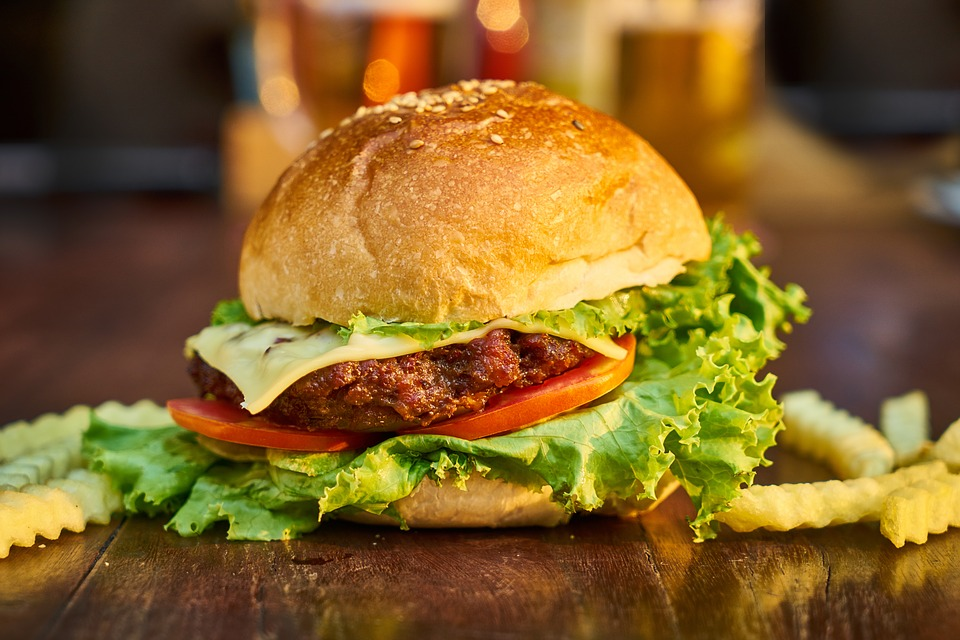 America Chicken Burger Meal